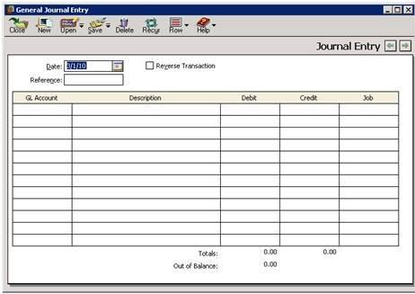 how to write a general journal entry