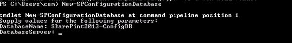New-SpConfigurationDatabse PowerShell Command