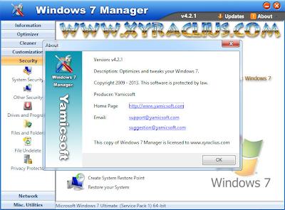 Yamicsoft Windows 7 Manager 4.2.1 Full Keygen Patch