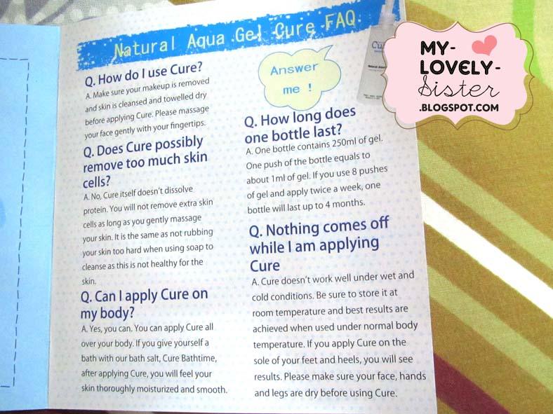 Review Cure Natural Aqua Gel