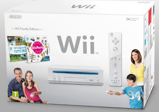 White Wii Console: Wii Family Edition