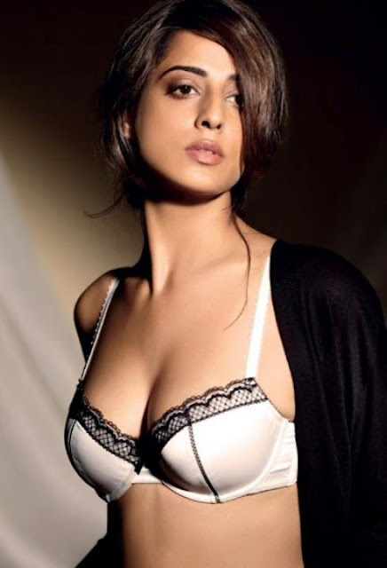 Mahie Gill ni lingerie bra for Maxim India