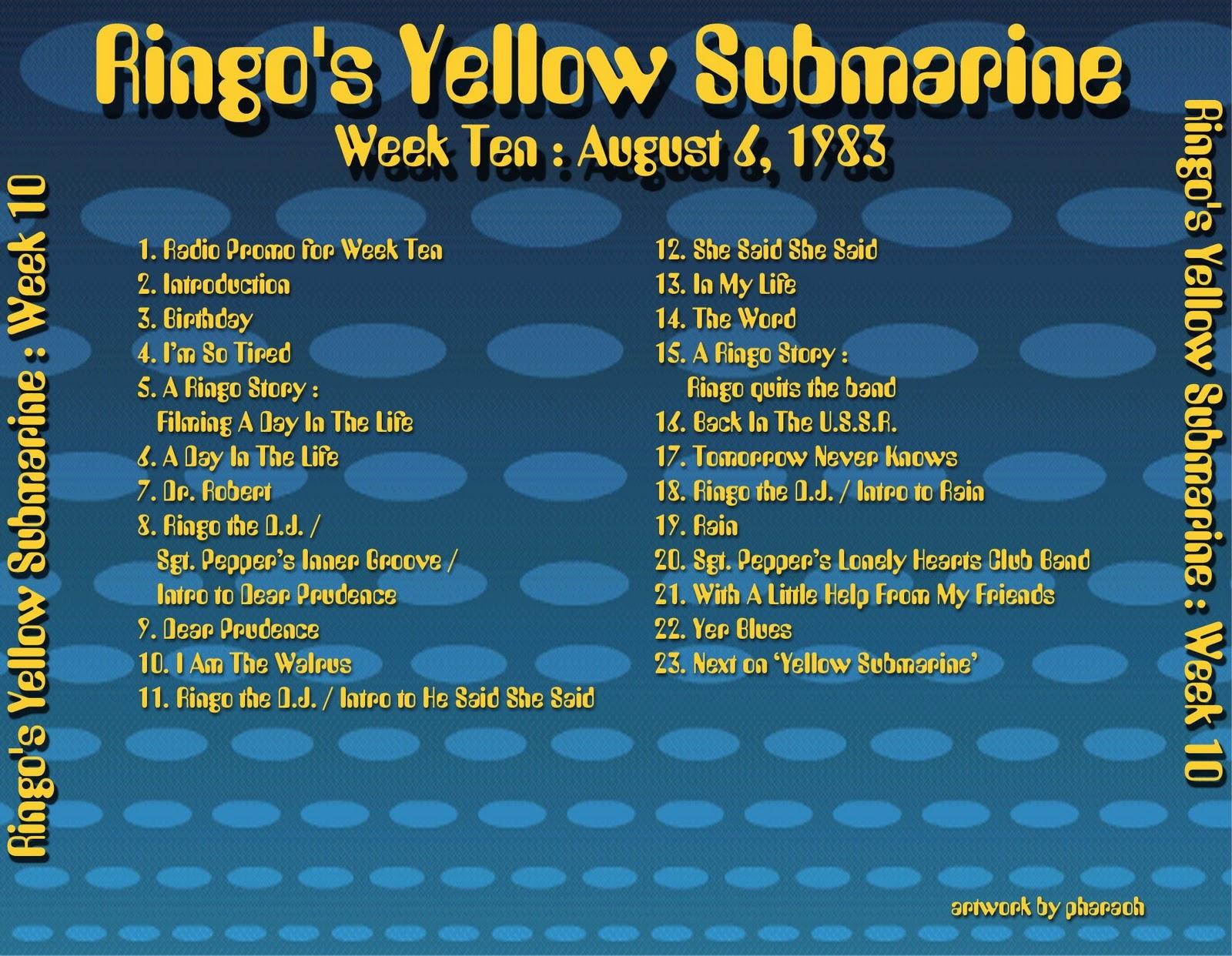 Beatles Radio Waves: 1983 08 06 Ringo's Yellow Submarine 10 #B89B13 1600 1242