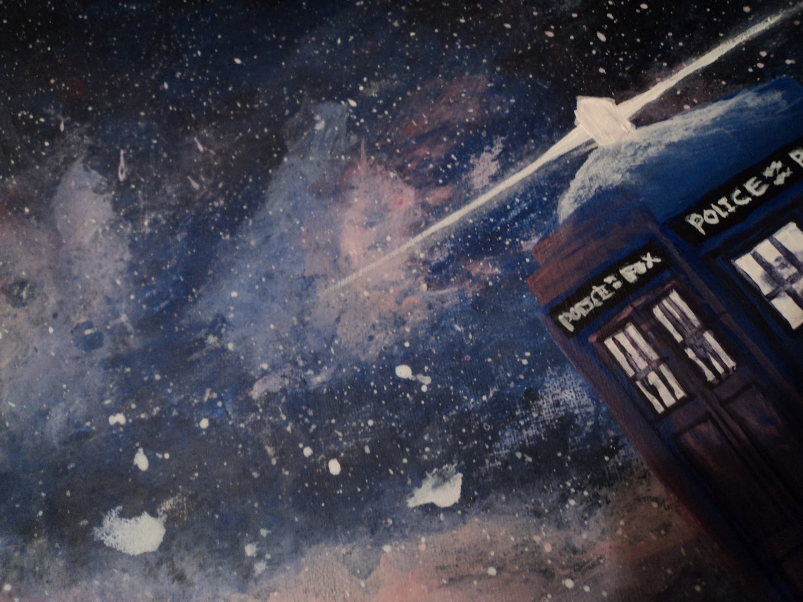 Elenatintil: A Painting of a TARDIS