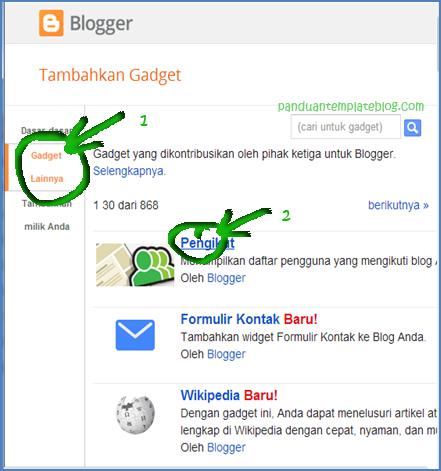 blogger followers gadget