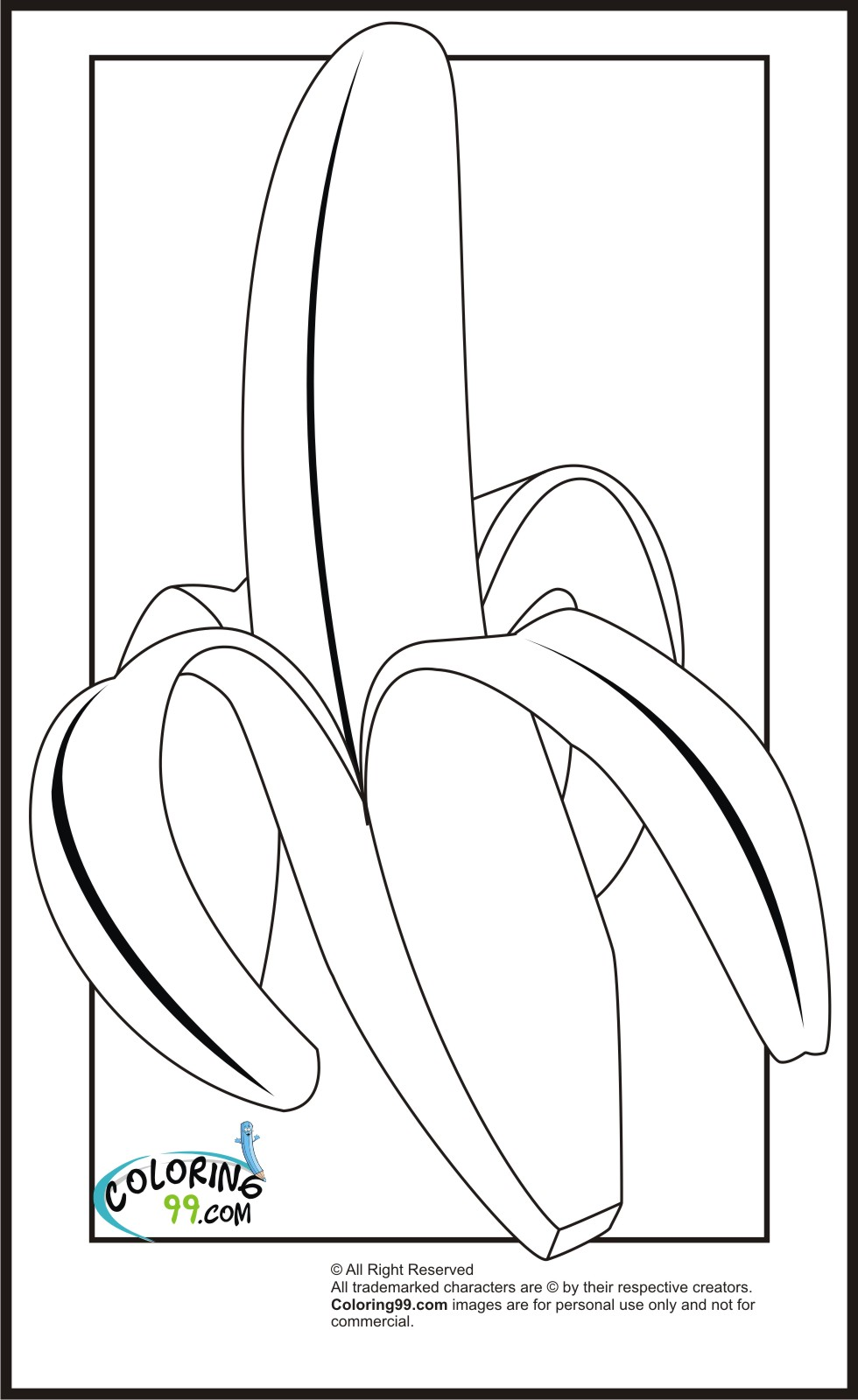 Banana coloring pages team colors for Banana color page
