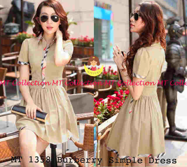 BURBERRY SIMPLE DRESS EC52BD