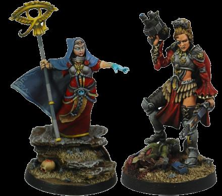 """Wargames: review de """"Sister Herja"""" e """"Inquisitor Ingrid von Schwarzheim"""" [Kromlech]."""