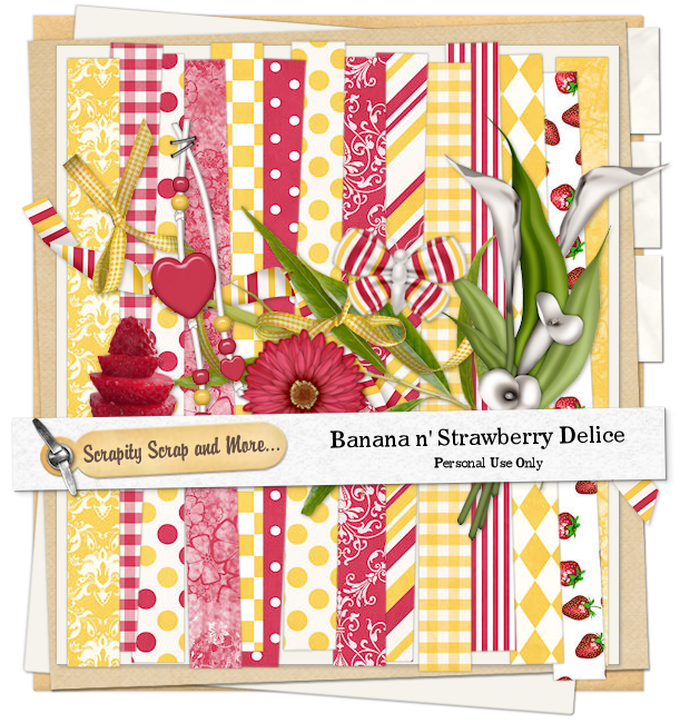 Scrapkit: Banana Strawberry Delice