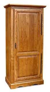 Bonnettière mobile in legno ad una sola anta