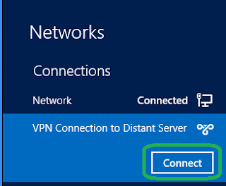 VPN Connection to Distant Server and Connect