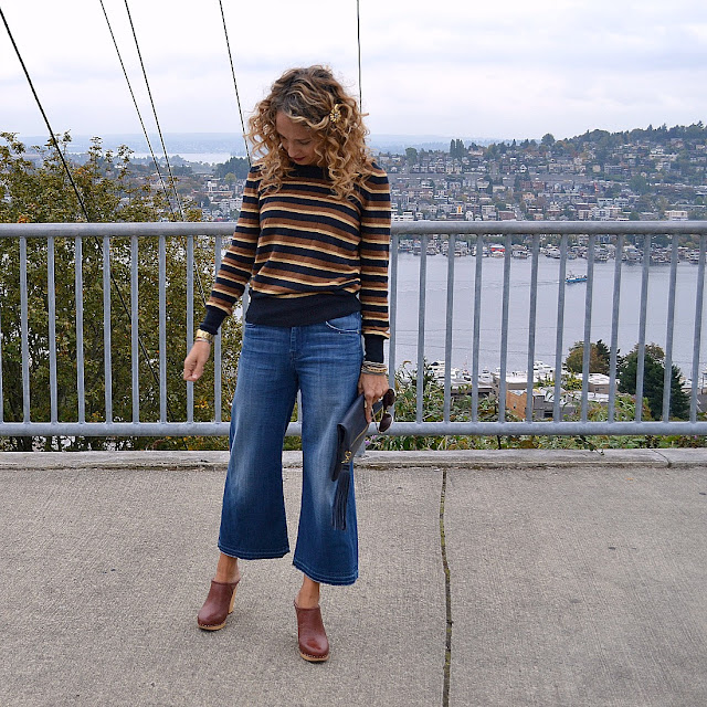 how to wear denim culottes