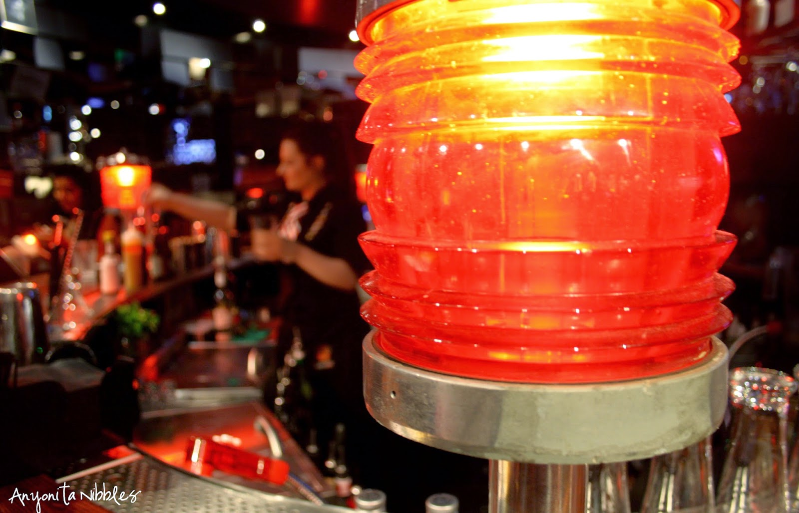 Round the bar at TGI Friday's