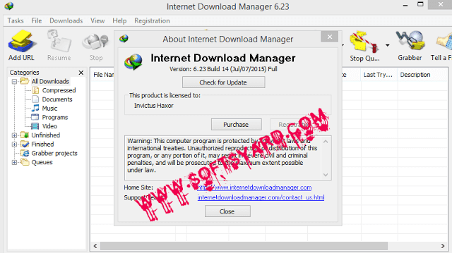 IDM v6.23 build 14 working license key and crack free download