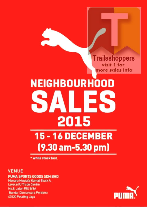 PUMA Neighbourhood Sales PJ Malaysia