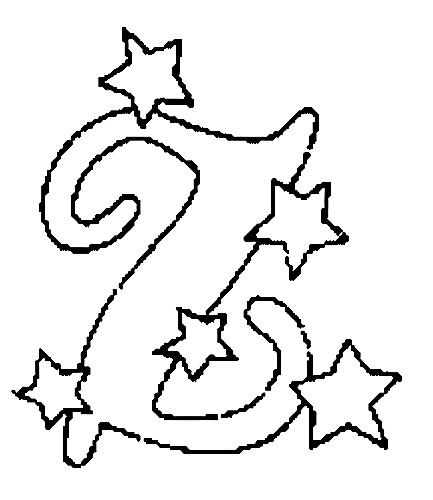 Desenhos Para Colori letras do alfabeto letra Z desenhar
