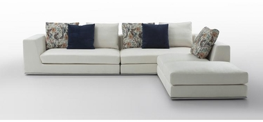 Modern Sectional Sofa with White Color by Evinco Design
