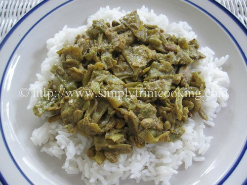 Curry Seim and Rice, cooking seim