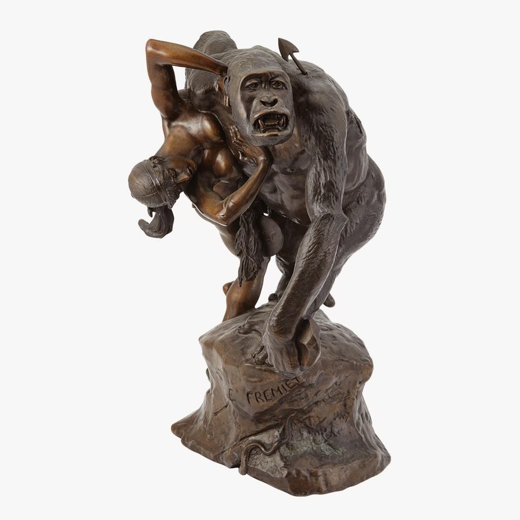 EL ANIMAL INVISIBLE: Gorila rapta moza (escultura de Emmanuel ...