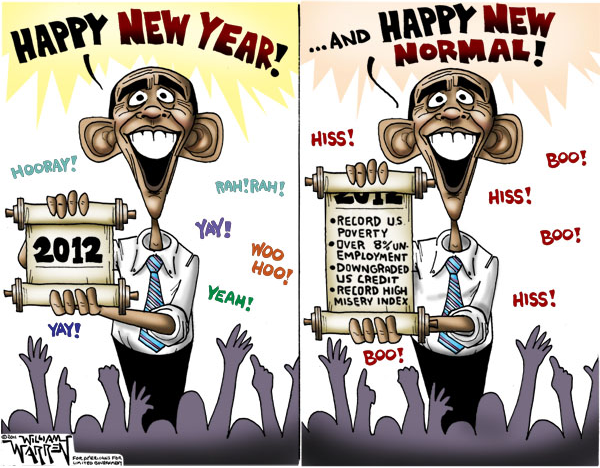 Politico Mafioso Cartoon Happy New Normal By William Warren