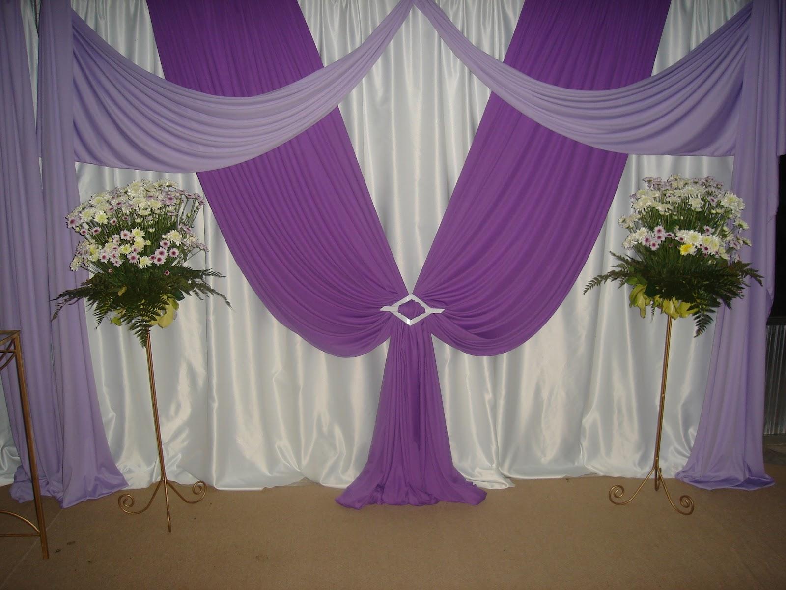 Neon Decorações Decoração em Roxo e Lilás  Casamento