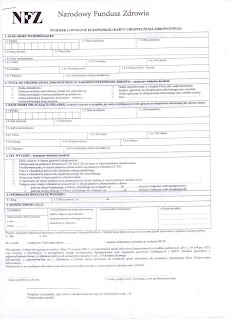 european health insurance application form
