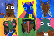 2nd Grade Horse Paintings on Canvas