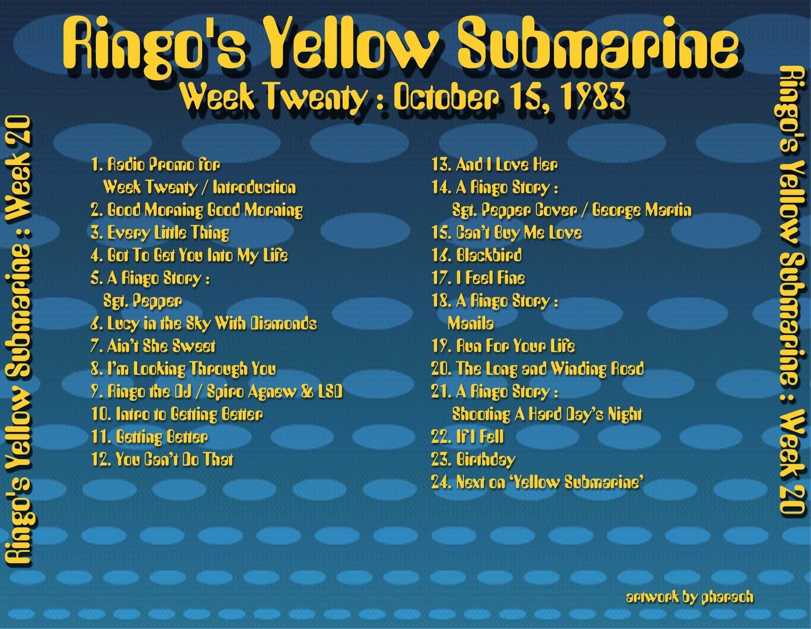 1983 10 15 Ringo's Yellow Submarine 20 #B89B13 1600 1242