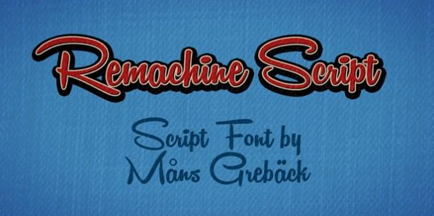 35 Font Script untuk Desain grafis - Remachine