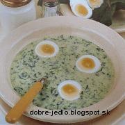 Studená špenátová polievka - recept