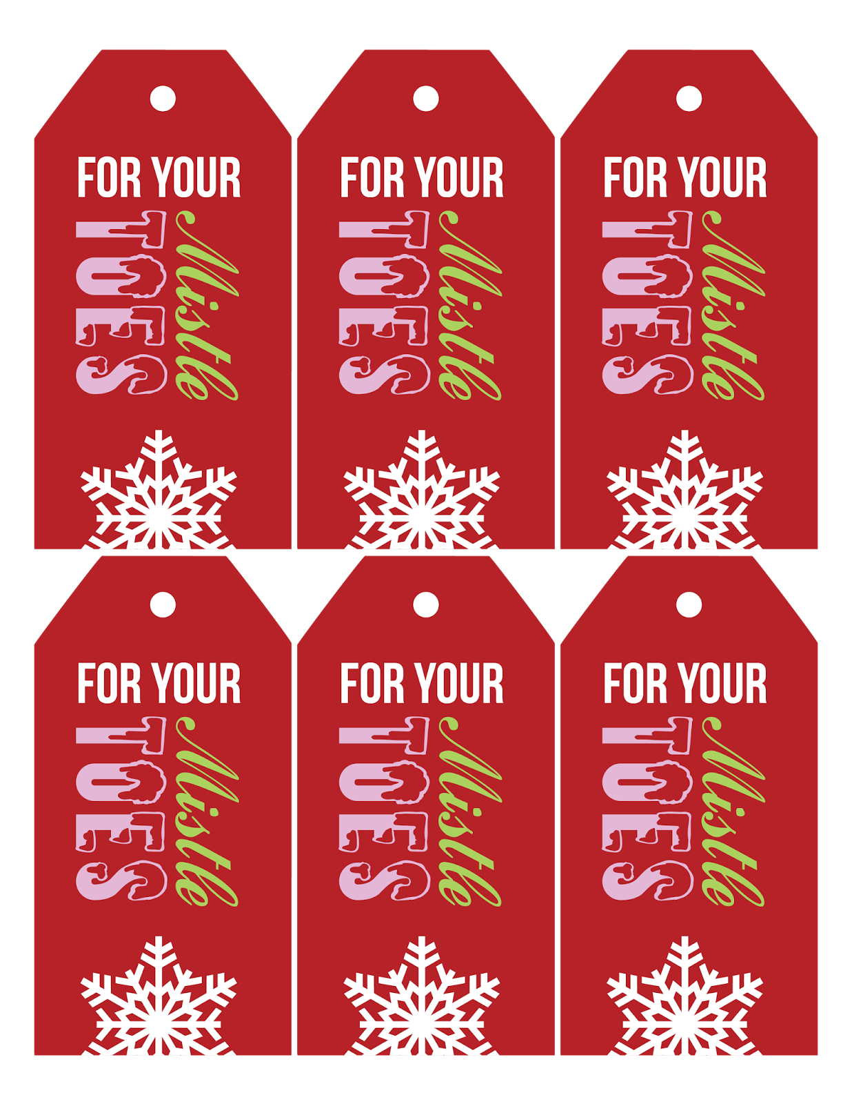 For Your Mistletoes Gift Tag Printable Pictures To Pin On