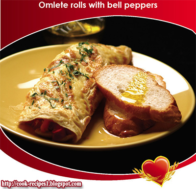 Omelet Rolls With Bell Peppers, Simple Recipes