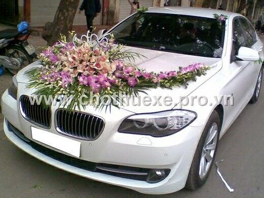 Cho thuê cưới màu trắng BMW 523i