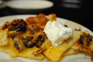 Baked Nachos on Plate