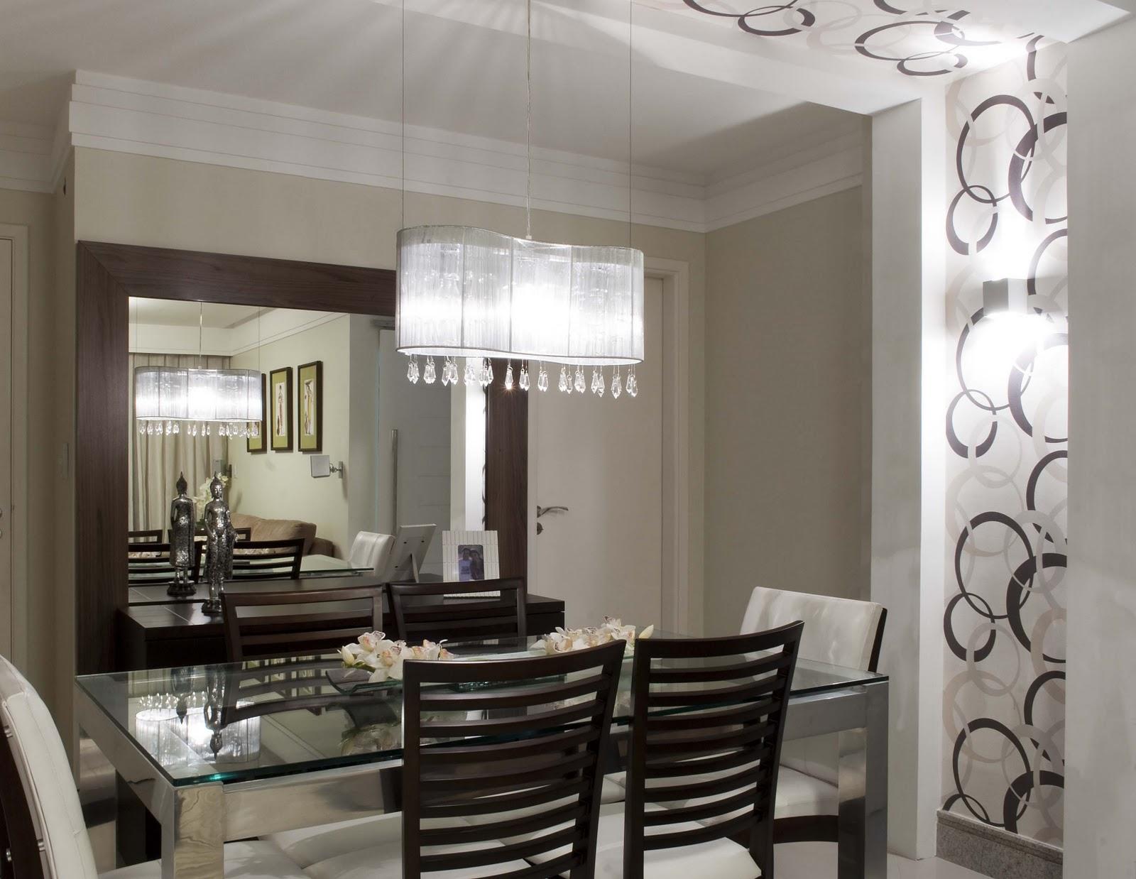 Espelho Em Sala Pequena ~ Decoração da sala de jantar!  Emile Móveis
