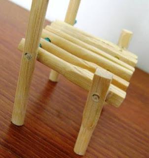 Cara Membuat Kursi Mini / Mainan dari Stick Bambu