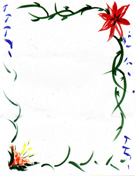 Bordes para diplomas de flores - Imagui