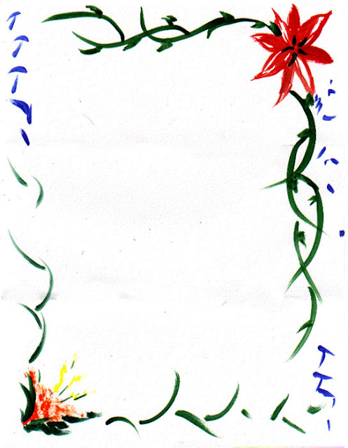 Flower Page Border Designs
