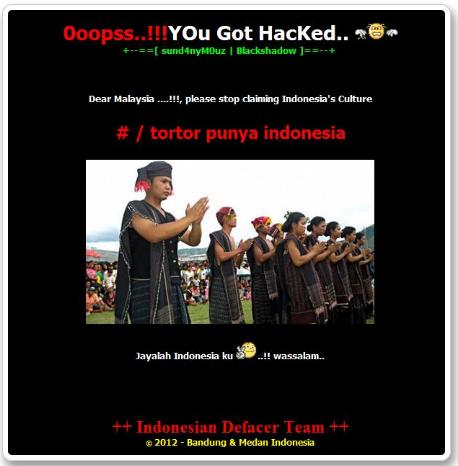 Malaysia Mau  Claim Tor-Tor Batak! Hacker Bertindak