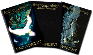 1st three books of the Astronomicon Science Fiction series.