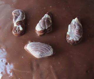 Tarta de bombones de praliné, guylian, receta