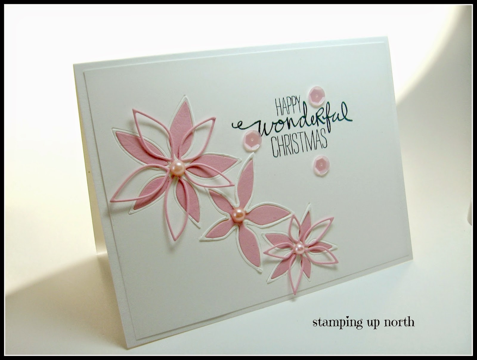 stamping up north with laurie memory box christmas card