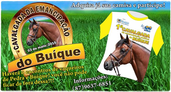 1ºª GRANDE CAVALGADA DE EMANCIPAÇÃO DE BUÍQUE