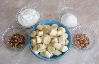 ingrediente inghetata de banane, cum se face inghetata de banane, retete cu banane, preparate din banane, retete culinare, retete cu iaurt, preparate din iaurt,