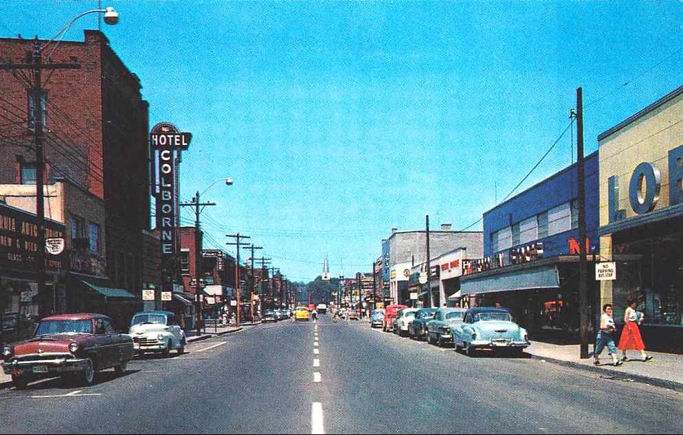 Sarnia (ON) Canada  city pictures gallery : Christina Street , SARNIA , Ontario , Canada 1959