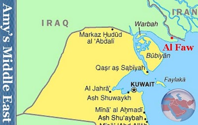Musings on iraq iraq kuwait argue over competing port plans in the this map highlights the close proximity between kuwaits mubarak port being built on bubyan island and faw where iraq plans on building a grand port gumiabroncs Images