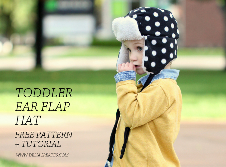 http://www.deliacreates.com/toddler-ear-flap-hat-free-pattern/