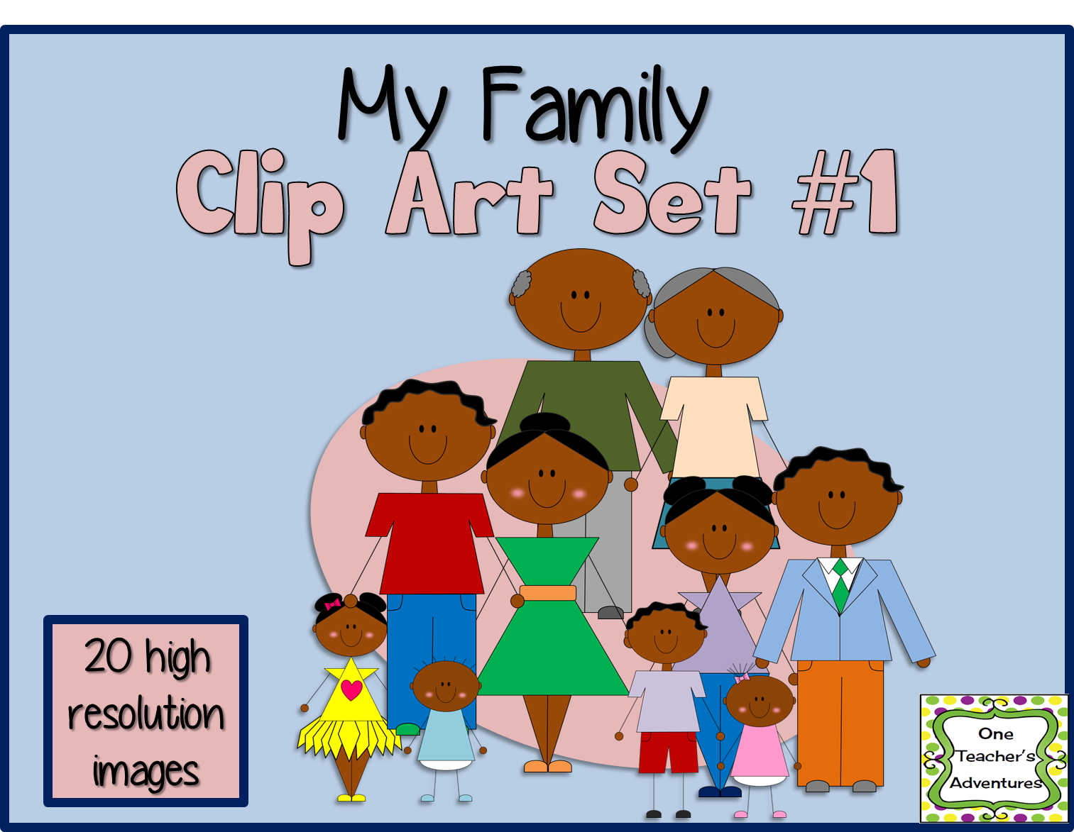 http://www.teacherspayteachers.com/Product/My-Family-Clip-Art-Set-1-1393361