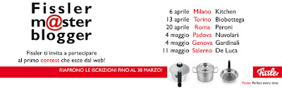 partecipo al fissler master chef il 20 aprile a roma!