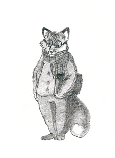 карандашный лис